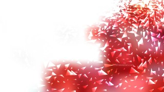 Abstract Red and White Scattered Triangle Background