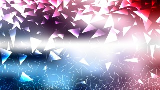 Abstract Red White and Blue Triangular Background