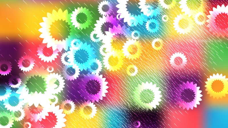 Colorful Floral Background Vector Art