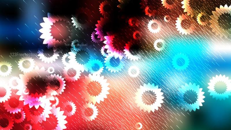 Dark Color Flower Background Design