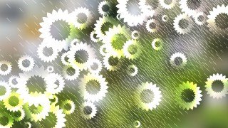 Green and White Flower Background Vector Graphic