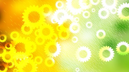 Green Yellow and White Flowers Background Image