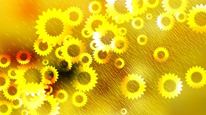 Orange and Yellow Flower Background Vector