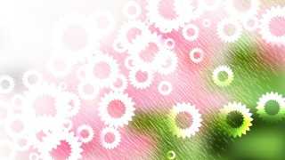 Pink Green and White Flower Background Graphic