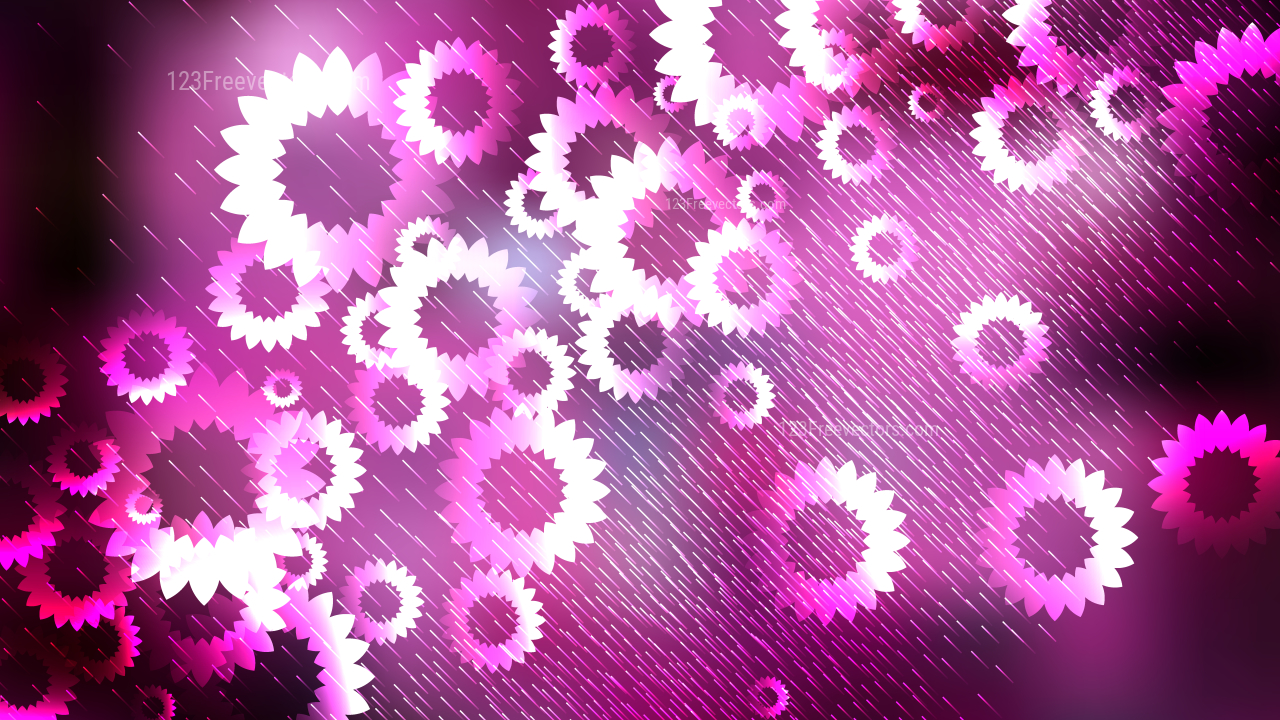 Purple Black And White Flower Background Design