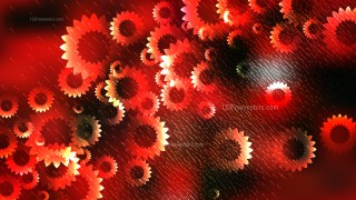 Red and Black Flower Background