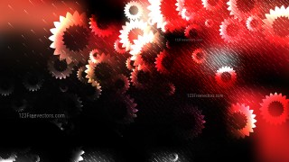 Red Black and White Floral Background Image