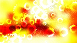 Red White and Yellow Flower Background Illustrator