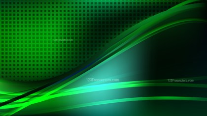 Cool Green Abstract Background