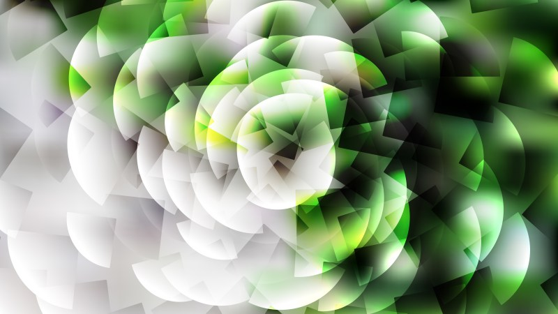 Abstract Green Black and White Graphic Background