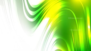 Abstract Green Yellow and White Graphic Background