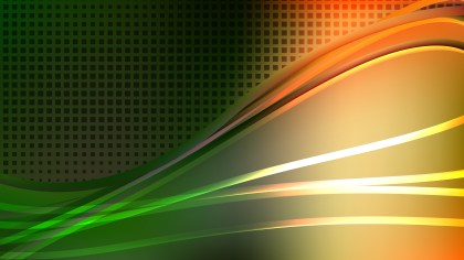 Abstract Orange White and Green Background Graphic Design