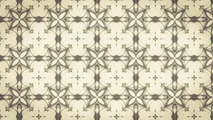 Beige Vintage Seamless Floral Background Pattern