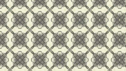 Beige Vintage Floral Seamless Pattern Wallpaper Design Template