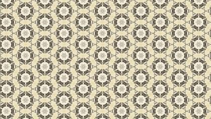 Beige Vintage Decorative Floral Ornament Wallpaper Pattern Image