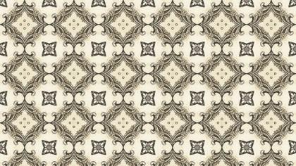 Beige Vintage Seamless Floral Wallpaper Pattern