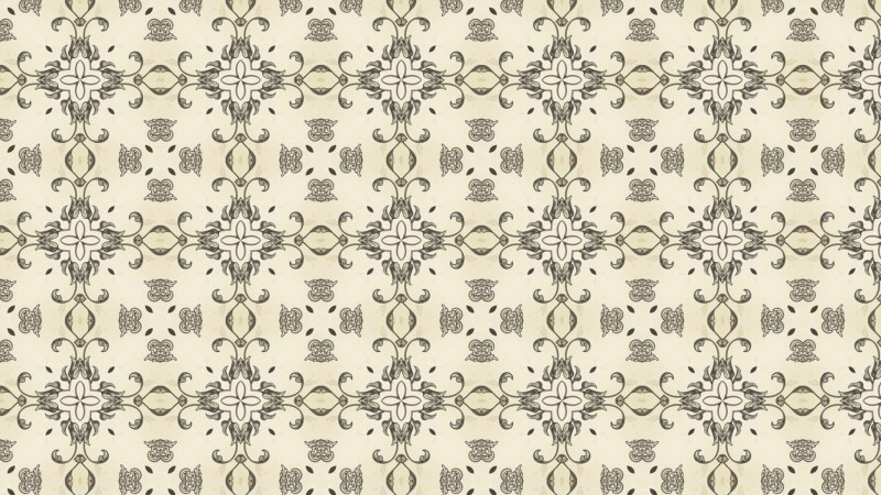 Beige Vintage Seamless Ornament Wallpaper Pattern Design Template
