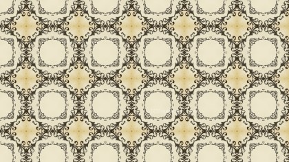 Beige Vintage Floral Wallpaper Background