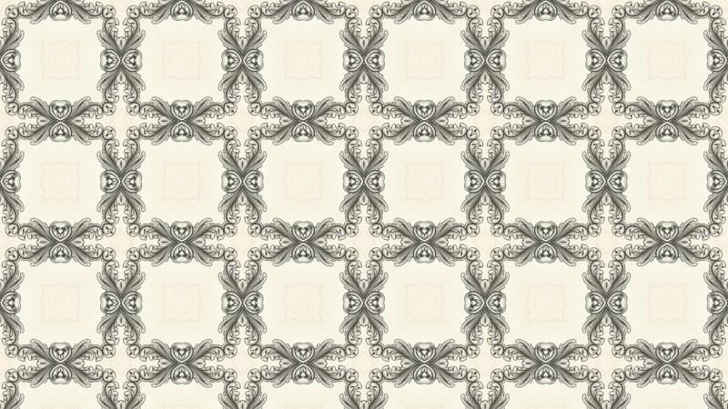 Beige Vintage Floral Pattern Texture Background Template