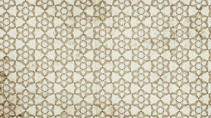 Beige Seamless Floral Vintage Pattern Background Image