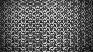 Black Vintage Decorative Floral Pattern Background