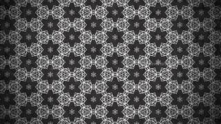 Black Vintage Decorative Floral Seamless Pattern Background Image