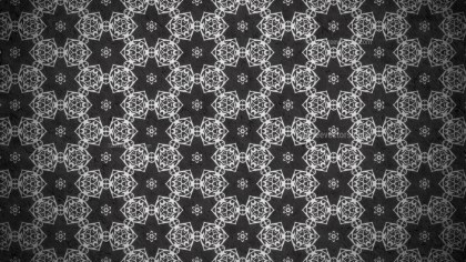 Black Vintage Decorative Floral Seamless Pattern Background Image