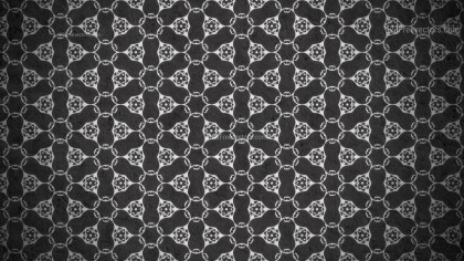 Black Vintage Floral Pattern Background