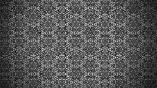 Black Vintage Seamless Ornamental Pattern Background