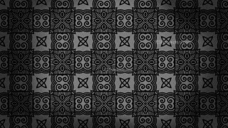 Black Vintage Decorative Ornament Background Pattern