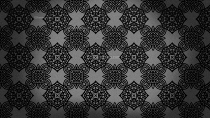 Black Vintage Flower Background Pattern