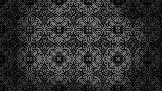 Black Vintage Seamless Floral Background Pattern