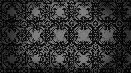 Black Vintage Floral Seamless Pattern Wallpaper Design Template