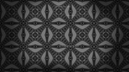 Black Vintage Seamless Ornamental Pattern Wallpaper