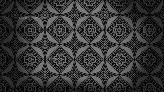 Black Vintage Decorative Floral Ornament Wallpaper Pattern Image