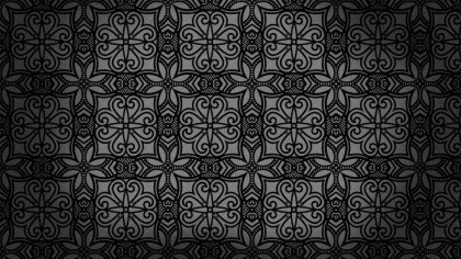 Black Vintage Decorative Ornament Wallpaper Pattern