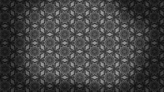 Black Ornamental Vintage Background Pattern