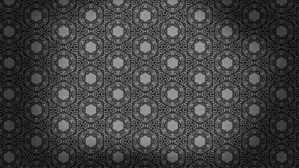Black Seamless Floral Vintage Pattern Background Image
