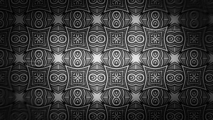 Black Decorative Seamless Pattern Background