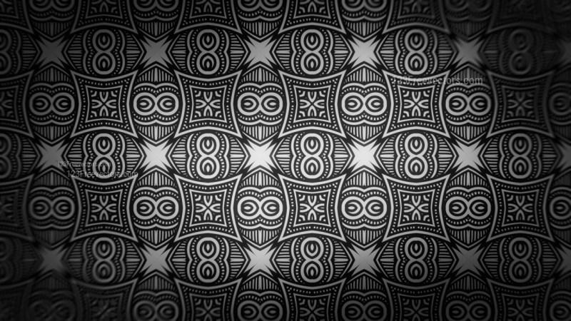 Black Decorative Seamless Pattern Background