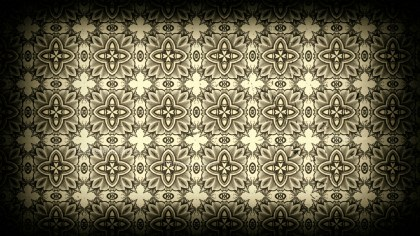 Black and Beige Vintage Floral Ornament Background Pattern Template