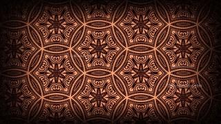 Black and Brown Vintage Decorative Floral Ornament Wallpaper Pattern Image
