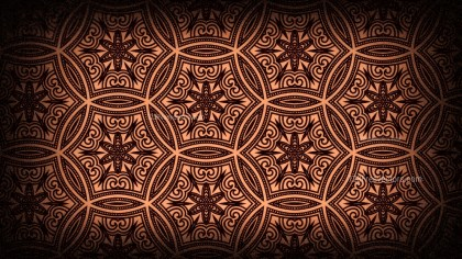 Black and Brown Vintage Decorative Floral Ornament Wallpaper Pattern Image