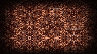 Black and Brown Vintage Decorative Ornament Wallpaper Pattern