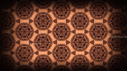 Black and Brown Vintage Floral Ornament Wallpaper Pattern Graphic