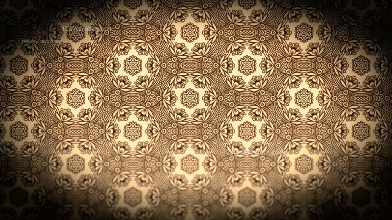 Black and Brown Vintage Ornament Wallpaper Pattern Design