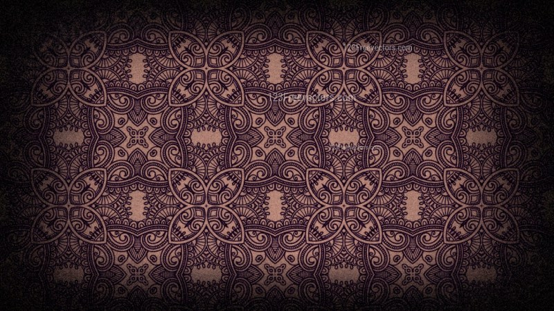 Black and Brown Seamless Floral Vintage Pattern Background Image