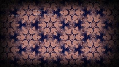 Black and Brown Vintage Decorative Floral Seamless Pattern Background Image