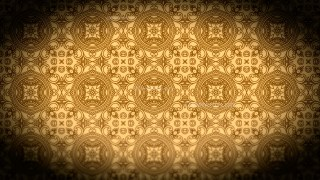Black and Brown Vintage Decorative Floral Ornament Background Pattern Design