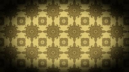 Black and Brown Vintage Decorative Ornament Background Pattern